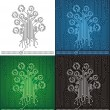 Royalty-Free Stock Vector Image: Circuit board tree background