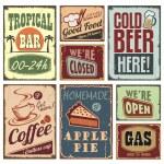 signos de estilo vintage — Vector de stock