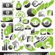 Business and money icon set - Stock vektor
