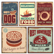 Vintage style tin signs and retro posters — 图库矢量图片
