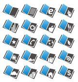 Książki zestaw ikon — Wektor stockowy