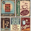 Vintage coffee posters and metal signs — Imagen vectorial