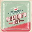 Retro Valentines Day Card vector — Stock Vector
