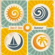 Royalty-Free Stock Vector Image: Retro summer holiday poster