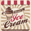 Retro ice cream poster — Image vectorielle