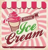 Cartel retro helado — Vector de stock