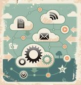 Concepto creativo de cloud computing conexiones — Vector de stock