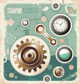 Vintage industrial info graphic — Stock Vector