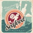 Vintage poster for seafood restaurant - Stock Vector