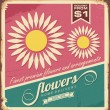 Vintage florist shop sign - Stock Vector
