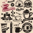 Stock Vector: Coffee symbols and logo concepts collection