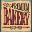 Vintage bakery sign - Stock Vector