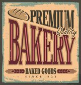 Vintage bakery sign — Stock Vector