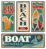 Vintage summer holiday signs — Stockvektor