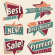 Vector set of retro promotional labels — Stock Vector #27794917