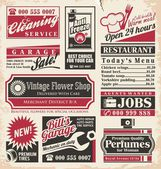 Retro newspaper ads design template — Stockvektor