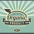 Retro label for organic food — Stock Vector