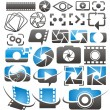 Set of vector photography and video icons, symbols, logos and signs — Stock Vector #28924607