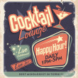 Retro poster design for cocktail lounge — Stock Vector #29057349