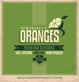 Fresh oranges poster design — Stock Vector