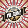 Welcome home vintage vector poster — Stock Vector