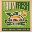 Retro farm fresh food poster design — Stock Vector