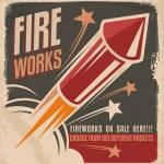 Vintage fireworks poster design — Stock Vector #36849063