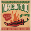 Mexican food — Image vectorielle