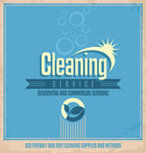 Vintage poster design for cleaning service — Vector de stock