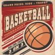 Retro basketball poster design — Stock Vector