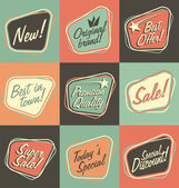 Retro labels and stickers collection — Vetorial Stock