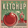 Tomato ketchup retro design concept — Stock Vector