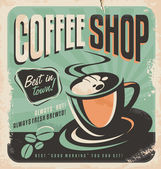 Retro poster for coffee shop — Stock Vector