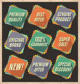 Retro badges and banners collection — Stock Vector