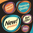 Set of retro labels, stickers and badges — Stock Vector