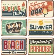 Summer holiday vintage sign boards collection — Stock Vector #46956315