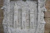 古代的莫里斯科、 费尔莫县、 意大利符号 — 图库照片