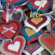 Christmas and Easter ornamental hearts — Stock Photo