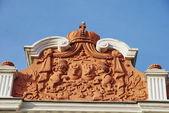 Frontal blazon of the Sutu palace, Bucharest — Stock Photo