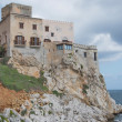Sicily, old castle with view over the sea - Foto Stock