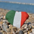 Italy in my heart, souvenir on pebbles — Stock Photo #24455005