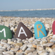 Mary, female name on colourful stones — Stock Photo #25115291