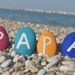 Papà, italian father name on stones — Stock Photo