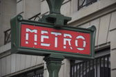 Paris, metro sign — Stock Photo