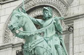 Equestrian Statue of Joan of Arc at Basilique du Sacré-Cœur — Stock Photo
