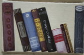 Painted book spines on a wall, Sofia, Bulgaria — Stock Photo