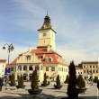 Main square in Brasov, Transylvania, Romania — Stock Photo