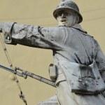 Italian soldier, memorial monument, Posta, Rieti, Italy — Stock Photo #38527677