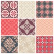 Set of nine colorful seamless patterns for backgrounds and wallpapers — Stock Vector #12815122