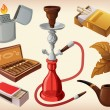 Royalty-Free Stock Vector Image: Set of traditional smoking devices
